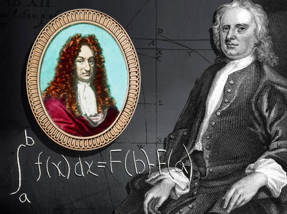 ניוטון (מימין) ולייבניץ | מקורות: DR JEREMY BURGESS / ANN RONAN PICTURE LIBRARY / HERITAGE IMAGES / SCIENCE PHOTO LIBRARY,