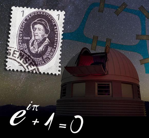 אוילר והטלסקופ הקרוי על שמו בצ'ילה | מקור: zabanski, Shutterstock, BABAK TAFRESHI / SCIENCE PHOTO LIBRARY