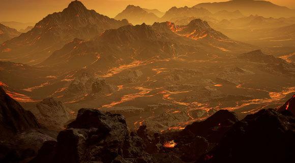כך דמיין אמן את פני השטח של כוכב הלכת שהתגלה | איור: tRenderArea