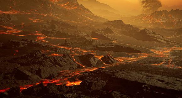 הדמיית פניו של כוכב הלכת גליזה 486b | איור: RenderArea